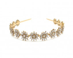 sunflower crystal headband